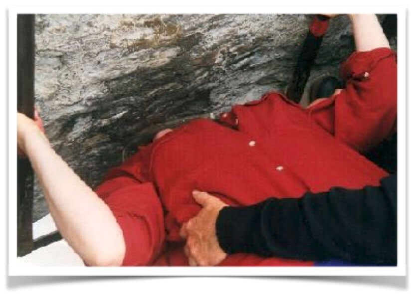 Kissing the Blarney Stone. Who'd have thought?!!